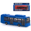 1:48 Scale free wheeling bus with opening doors  and detailed interior.  Diecast metal and plastic  parts.  Length 22cm.  3 Assorted colours.  Age 3+.