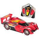 Iconic Hot Wheels with full-function R/C driving  and a turbo mode feature.  Press button to  activate turbo mode and light-up engine for high  speed R/C fun!  Each style of Nitro Charger  operates on it's own channel, allowing 4-way  head-to-head racing.  Age 6+.