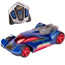 Iconic Hot Wheels styles with full function R/C  driving and a turbo mode feature. Press button to  activate turbo mode and light-up engine for high  speed R/C fun!  Each style of Nitro Charger  operates on it's own channel, allowing 4-way  head-to-head racing.  Age 6+.