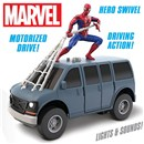 Hero Rider with motorized drive. Driving action  with light and sounds. Hero Swivel on top of  vehicle. 16cm length. Age 3+