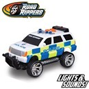 Sturdy Bright Police Vehicle. Also includes light  and sound. Part of the Rush & Rescue series.  12.5cm Length. Age 3+. Includes 3 x LR44 Batteries