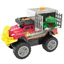 Jump back to the prehistoric age and bring the  dino adventure to your living room! This truck is  hauling precious cargo but beware - the cargo is  trying to break free!  Your imagination will run  wild with the exciting light effects, sounds,  music and motorised drive.  3 x AA batteries  included.  Age 3+.