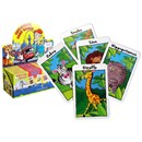 4 assorted card games in display box of 24.  Includes jungle snap, farmyard donkey, happy  families and pairs on wheels.  With rules.