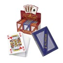 Display box of 12 packs of plastic coated playing  cards.  Gloss finish and security sealed.