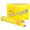 Tube of 6 table tennis balls in a dislay box of 12  tubes.