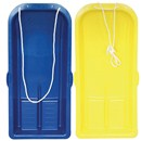 90cm plastic sledge with pull rope.  Colours may  vary.