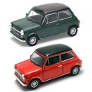 Mini Cooper 1300 Die Cast Classic Car with pull  back and go feature. 2 assorted Age 3+