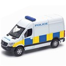 Diecast Van with Police Livery. Pull Back & Go.  Length 11cm