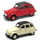 Citroen 2CV softtop Die Cast Classic Car with pull  back and go feature. 2 assorted Age 3+