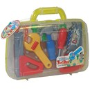 Variety of large plastic tools in a handy  carrycase.  Includes workbench with nuts and  bolts.  Case 19cm x 24cm.  Age 3+.