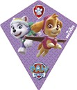 Brookite Paw Patrol diamond kite made from polyester ripstop with fibreglass struts. Single line with 1 handle. For use in a light-moderate breeze (Bf 2-4). Dimensions (H)70cm x  (W) 60cm. Recommended Age 3+
