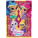 Brookite Shimmer & Shine Magic Carpet Kite from polyester ripstop with fibreglass struts. Vibrant images Shimmer, Shine, Nahal & Tala on this carpet style Kite.  Single line with 1 handle. For use in a light-moderate breeze (Bf 2-4). Dimensions (H) 84cm x  (W) 43cm. Recommended Age 3+