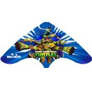 Brookite TMNT Kite made from polyester ripstop with fibreglass struts. Colourful images of Leonardo, Donatello, Raphael an Michelangelo. Option of Single or Dual line with 2 handles. For use in a light-fresh breeze (Bf 2-5). Dimensions (H) 65cm x  (W) 130cm. Recommended Age 8+