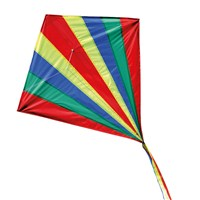 Brookite Shadow Kite made from spinaker nylon with fibreglass struts. Single line with 1 handle. For use in a light-moderate breeze (Bf 2-4). Dimensions (H) 79cm x  (W) 76cm. Recommended Age 3+