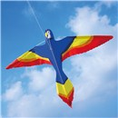 Brookite Parrot Kite is made from spinnaker nylon with fibreglass struts. Single line with 1 handle. For use in a light-moderate breeze (Bf 2-4). Dimensions (H) 64cm x  (W) 94cm. Recommended Age 3+