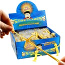 5cm mini Mr Stretchy smiles even when he's being  pulled every which way.  Individually bagged in  display box of 144.  Age 3+.