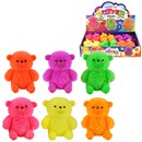 Light Up Puffer Bear in Neon Colours. 6 assorted.  Height 8cm. Age 3+