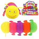 Brightly Neon Coloured Puffer Caterpillar with  Light Up Head. Length 7cm. Age 3+