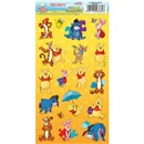 10cm x 20cm Sheet of shaped Stickers with Winnie the Poooh Illustrations including Eeyore, Tigger and Piglet. Great for applying to school books, craft projects and much much more. Age 3+