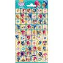 10cm x 20cm Sheet of Stickers with characters from Shimmer and Shine including Shimmer, Shine, Leah and Tala. Great for applying to school books, craft projects and much much more. Age 3+