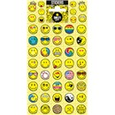 10cm x 20cm Sheet of Stickers with an assortment of smiley faces. Great for applying to school books, craft projects and much much more. Age 3+