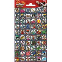 10cm x 20cm Sheet of Square Stickers with characters from Power Rangers. Great for applying to school books, craft projects and much much more. Age 3+