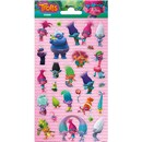 10cm x 20cm Sheet of Stickers with characters from Trolls including Aspen Heitz and King Peppy. Great for applying to school books, craft projects and much much more. Age 3+