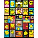15cm x 20cm Sheet of square and rectangular Stickers with various smiley faces. Great for applying to school books, craft projects and much much more. Age 3+