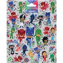 15cm x 20cm Sheet of shaped Stickers with PJ Masks Characters. Great for applying to school books, craft projects and much much more. Age 3+