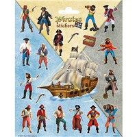 15cm x 20cm Sheet of shaped Stickers with a pirate theme. Great for applying to school books, craft projects and much much more. Age 3+