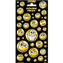 10cm x 20cm Sheet of emoji style gold Stickers. Great for applying to school books, craft projects and much much more. Age 3+