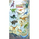 10cm x 20cm Sheet of dinousaur shaped Stickers. Great for applying to school books, craft projects and much much more. Age 3+