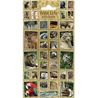 10cm x 20cm Sheet of wildlife themed photo Stickers including lion, parrot and tiger. Great for applying to school books, craft projects and much much more. Age 3+