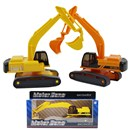 Highly detailed excavator with moving crane and  scoop.  Freewheel action.  Two assorted colours.  Age 3+.