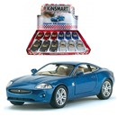 "5"" Diecast metal licenced Jaguar XK  Coupe with opening doors and pull back and go  action.  Assorted colours in display box of 12.  Age 3+."