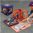 "Hot Wheels storage cube capable of holding up to  300 cars.  Unzips into a road design playmat.  Cube size 11.25""x 11""x 11.25"".  Age 3+."