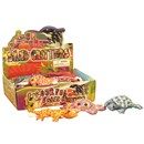 Assorted multicoloured sand filled fabric  creatures.  Display box of 24.