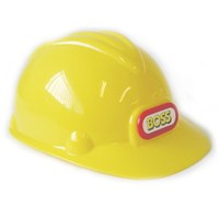 Plastic hard hat with front sticker logo.  Age 3+.