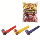 bag contains 144 pieces in 3 assorted colours for  noisy party fun!