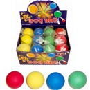 63mm hard rubber ball perfect for dogs.  Display  box of 24.