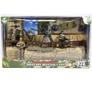 1:18 Scale playset with 3 fully articulated  figures, stone wall defences and accessories.  Age  3+.
