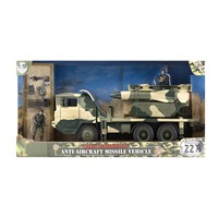 Large missile launcher vehicle with missiles,  fully articulated figure and accessories.  1:18  scale.  Age 3+.