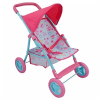 Deluxe 4 wheel folding stroller with  canopy, basket and foot rest.  58(L) x 36(W) x  52.5(H)cm.  Age 3+.