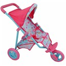 Deluxe 3 wheel folding stroller with canopy and  basket.  61(L) x 33(W) x 54(H)cm.  Age 3+.