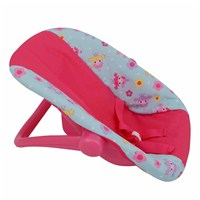 "Dolls car seat carrier with adjustable carry  handle and rocking base, suitable for dolls up to  46cm (18"").  Age 3+."