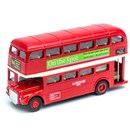 Hard Top Traditional DieCast, pull back and go  London Bus. Length 12.5cm.