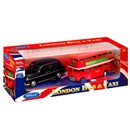 Traditional Diecast London Bus and Taxi in  Presentation box.