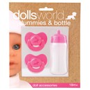 2 dolls dummies & bottle. Hanging card. Age 18m+.