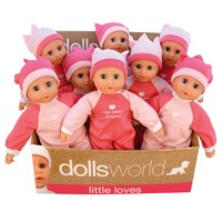 "30cm (12"") soft bean doll - 2 assorted.  Display  box of 8.  Age 12m+."