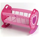 "Wooden dolls rocking cradle including quilt and  pillow. Suitable for dolls up to 46cm (18"").  Age  3+."